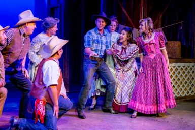"""""""Oklahoma!,"""" by Richard Rodgers and Oscar Hammerstein, at New Village Arts in Carlsbad, Calif., through Sept. 25. (Photo by Daren Scott)"""