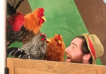 """""""Old MacDonald's Farm"""" by Amy Sweeney, at Center for Puppetry Arts in Atlanta, through Sept. 11. Pictured: Seth Langer. (Photo by Chelsea Bohannon)"""