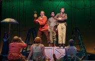 """""""Peter and the Starcatcher,"""" by Rick Elice and Wayne Barker, at Charleston Stage Company in Charleston, S.C., through March 5. Pictured: Pen Chance, John Black, Sean Michael Kelly, and cast."""