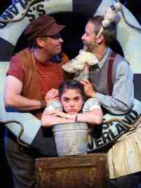 """Peter and the Starcatcher"" by Rick Elice, at Connecticut Repertory Theatre in Storrs, Conn., through July 2. Pictured: Greg Webster, Jason Bohon, and Raegan Roberts. (Photo by Gerry Goodstein)"