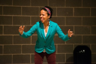 """""""Pike St."""" by Nilaja Sun, at Woolly Mammoth Theatre Company in D.C., through April 23. Pictured: Nilaja Sun."""