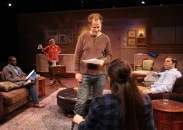 """""""Seminar"""" by Theresa Rebeck, at the Chance Theater in Los Angeles through Oct. 23. Pictured: Christian Telesmar, Karen Jean Olds, Ned Liebl, Asialani Holman, and Casey Long. (Photo by Doug Catiller, True Image Studio)"""