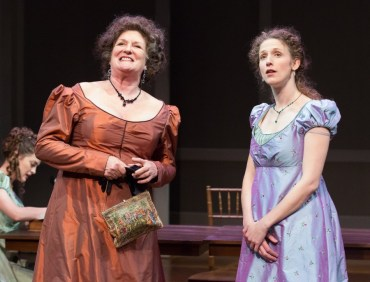 """""""Sense and Sensibility"""" adapted by Joseph Hanreddy and J.R. Sullivan from Jane Austen, at People's Light in Malvern, Pa., through March 20. Pictured: Marcia Saunders and Cassandra Bissell."""