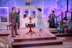 """""""The Skin of Our Teeth"""" by Thornton WIlder, at Artists Repertory Theatre in Portland, Ore., through June 12. Pictured: Don Alder, Vana O'Brien, and cast. (Photo by Owen Carey)"""