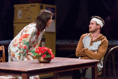 """""""Stupid Fucking Bird"""" by Aaron Posner, at Arden Theatre Company in Philadelphia through Oct. 16. Pictured: Grace Gonglewski and Aubie Merrylees. (Photo by Mark Garvin)"""