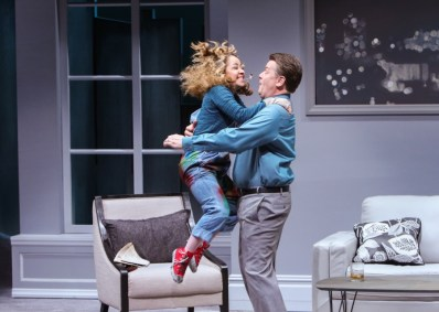 """""""Sylvia"""" by A.R. Gurney, at Geva Theatre Center in Rochester, N.Y., through Feb. 5. Pictured: John Scherer and Jennifer Cody. (Photo by RC2 Photography)"""