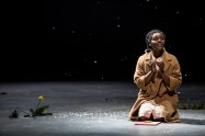 """""""The Bluest Eye,"""" adapted by Lydia R. Diamond from Toni Morrison, at Guthrie Theater in Minneapolis through May 21. Pictured: Brittany Bellizeare. (Photo by Dan Norman)"""