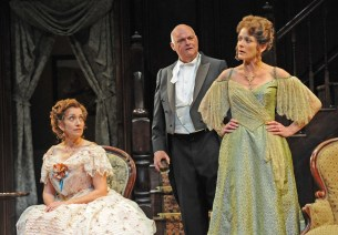 """The Little Foxes"" by Lillian Hellman, at Asolo Repertory Theatre in Sarasota, Fla., through April 15. Pictured: Denise Cormier, Matt DeCaro, and Tracy Michelle Arnold. (Photo by Gary W. Sweetman)"