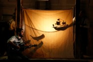 """""""The Old Man and the Moon,"""" by PigPen Theatre Co., at the Old Globe in San Diego, through June 18. (Photo by Joan Marcus)"""