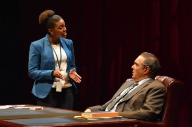"""The Originalist"" by John Strand, a coproduction with Asolo Repertory Theatre and Pasadena Playhouse at Arena Stage in Washington, D.C., through July 30. Pictured: Jade Wheeler and Edward Gero."