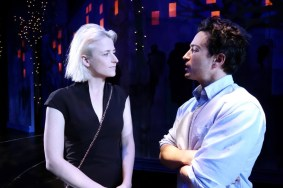 """""""The Siegel"""" by Michael Mitnick, at South Coast Repertory Theatre in Costa Mesa, Calif., through April 23. Pictured: Mamie Gummer and Ben Feldman."""