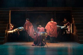 """""""Titus Andronicus"""" by Shakespeare, at Clarence Brown Theatre at the University of Tennessee in Knoxville, Tenn., through Feb. 28. (Photo by Brynn Yeager)"""