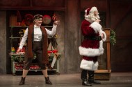 """Twist Your Dickens,"" presented by Second City at Goodman Theatre in Chicago, through Dec. 30. Pictured: Carisa Barecca and Joe Dempsey. (Photo by Liz Lauren)"