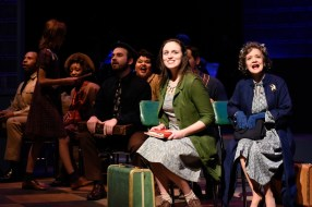 """""""Violet"""" by Jeanine Tesori and Brian Crawley, at SpeakEasy Stage Company in Boston through Feb. 6. Pictured: Alison McCartan and cast. (Photo by Glenn Perry Photography)"""