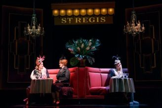 """""""War Paint"""" by Doug Wright, Scott Frankel, and Michael Korie, at Goodman Theatre in Chicago, through Aug. 21. Pictured: Patti LuPone and Christine Ebersole. (Photo by Joan Marcus)"""
