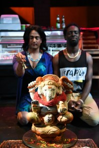 """""""When January Feels Like Summer"""" by Cori Thomas, at Mosaic Theatre Company of D.C. through June 12. Pictured: Shravan Amin and Jeremy Keith Hunter. (Photo by Stan Barouh)"""