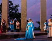 """Antony and Cleopatra"" by William Shakespeare, at Shakespeare Festival St. Louis through June 14. Pictured: Shirine Babb and cast. (Photo by J. David Levy)"