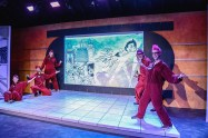 """""""Astro Boy and the God of Comics"""" by Natsu Onoda Power, at Sacred Fools Theater in 2015.(Photo by jessicashermanphotography.com)"""