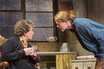 "Marie Mullen and Aisling O'Sullivan in Druid of Galway's 2016 production of ""The Beauty Queen of Leenane."" (Photo by Stephen Cummiskey)"