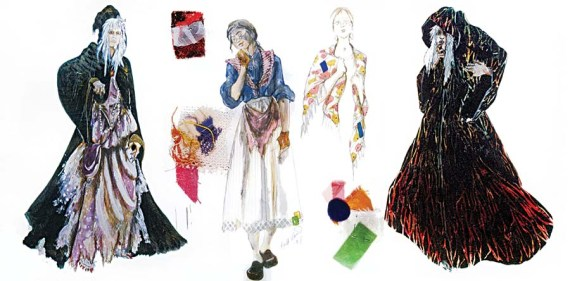 """Ann Hould-Ward's sketches for the original production of """"Into the Woods."""""""