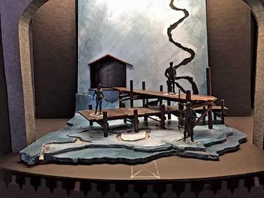 Set designer Regina Garcia's model for 'The River Bride.' (Courtesy of the Artist)