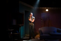 """""""Brilliant Adventure"""" by Alistair McDowall at Steep Theatre Company in Chicago through Aug. 23. Pictured: Curtis Edward Jackson. (Photo by Brandon Wardell)"""