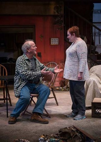"""""""By the Water"""" by Sharyn Rothstein, at Northlight Theatre in Skokie, Ill., through April 23. Pictured: Francis Guinan and Penny Slusher. (Photo by Michael Brosilow)"""