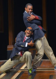 """""""Choir Boy"""" by Tarell Alvin McCraney, at Marin Theatre Company in Mill Valley, Calif., through June 28. Pictured: Rotimi Agbabiaka and Dimitri Woods. (Photo by Kevin Berne)"""
