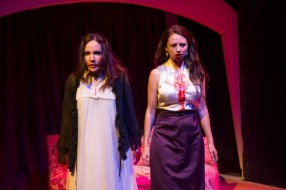 """""""Dracula"""" by Mac Wellman, at Mildred's Umbrella Theatre Company in Houston through Oct. 31. Pictured: Patricia Duran and Christie Guidry. (Photo by Killy Chavez)"""