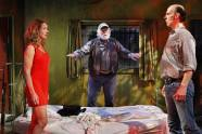 """Jennifer Blagen, Allen Hamilton, and Terry Hempleman in """"Fool for Love"""" by Sam Shepard at the Jungle Theater in 2013. (Photo by Michal Daniel)"""