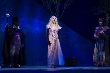 """Emily Skinner as the Beautiful Witch in """"Into The Woods"""" at Theatre Under the Stars."""
