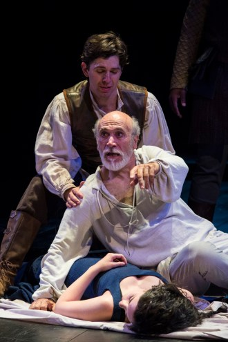 """King Lear"" by William Shakespeare, at Utah Shakespeare Festival in Cedar City, Utah, through Sept. 4. Pictured: Tyler Pierce, Tony Amendola, and Kelly Rogers. (Photo by Karl Hugh)"