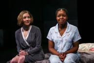 """""""Little Bee,"""" adapted by Myra Platt from Chris Cleave, at Book-It Repertory Theatre in Seattle through May 17. Pictured: Sydney Andrews and Claudine Mboligikpelani Nako."""