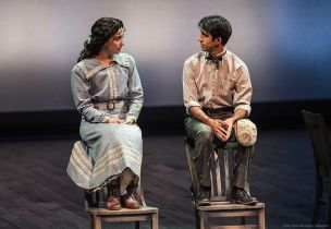 """Our Town"" by Thornton Wilder, at Portland Center Stage through Oct. 11. Pictured: Nikki Massoud and Sathya Sridharan."