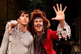 """""""Peter and the Starcatcher"""" by Rick Elice, based on the novel by Dave Barry and Ridley Pearson, with music by Wayne Barker at South Coast Repertory in Costa Mesa, Calif., through June 7. Pictured: Wyatt Fenner and Matt McGrath. (Photo by Debora Robinson/SCR)"""