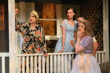 """""""Picnic"""" by William Inge, at the Antaeus Company in Los Angeles, through Aug. 16. Pictured: Gigi Bermingham, Jordan Monaghan, Ross Philips and Eve Gordon. (Photo by Karianne Flaathen)"""