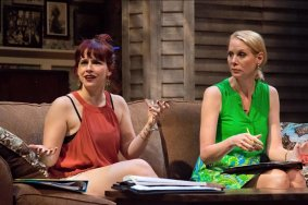 """Rapture, Blister, Burn"" by Gina Gionfriddo at Nashville Repertory Theatre through Sept. 19. Pictured: Amanda Card and Cheryl White."