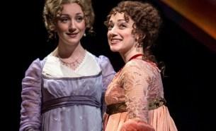 """Sense and Sensibility,"" adapted by Paul Gordon from Jane Austen, at Chicago Shakespeare Theatre through June 7. Pictured: Sharon Rietkerk and Megan McGinnis. (Photo by Liz Lauren)"