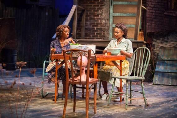 """Seven Guitars"" by August Wilson, at Actors Theatre of Louisville in Louisville, Ky. in 2015. Pictured: Sharon Washington and Joniece Abbott-Pratt. (Photo by Bill Brymer)"