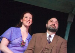 """""""Talley's Folly"""" by Lanford Wilson, at Open Stage of Harrisburg in Harrisburg, Pa., through May 3. Pictured: Trish Baillie and Anthony M.C. Leukus."""