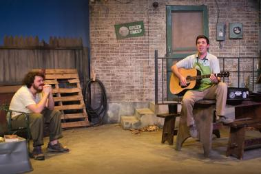 """""""The Aliens"""" by Annie Baker, at Firehouse Theatre in Richmond, Va., through May 16. Pictured: Maxwell Moore and Denver Crawford."""
