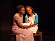 """The Color Purple"" by Marsha Norman, Brenda Russell, Allee Willis, and Stephen Bray, at West Coast Black Theatre Troupe in Sarasota, Fla., through Nov. 21. Pictured: Apphia Campbell and Khadijah Rolle. (Photo by Don Daly)"