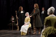 """The Crucible"" by Arthur Miller, at the Guthrie Theater in Minneapolis through May 24. Pictured: Raye Birk, Bill McCallum, Ashley Rose Montondo, Erik Heger and John Catron. (Photo by T. Charles Erickson)"