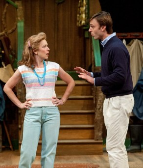 """""""The Foreigner"""" by Larry Shue, an Alley Theatre production at the University of Houston through Aug. 9. Pictured: Elizabeth Bunch Hutchinson and Jay Sullivan."""