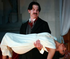 """""""The Madness of Edgar Allan Poe,"""" adapted by David Rice from Edgar Allan Poe, at First Folio Theatre in Oak Brook, Ill., through Nov. 7. (Photo by D. Rice)"""