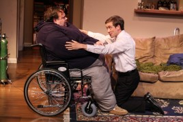 """""""The Whale"""" by Samuel D. Hunter, at Actor's Express in Atlanta through June 14. Pictured: Freddie Ashley and Kyle Brumley. (Photo by BreeAnne Clowdus)"""