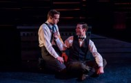 """""""Thrill Me: The Leopold and Loeb Story"""" by Stephen Dolginoff, at Wellfleet Harbor Actors Theater in Wellfleet, Mass., through Nov. 8. Pictured: Adam Berry and Ben Berry. (Photo by Michael Karchmer and Suz Karchmer)"""