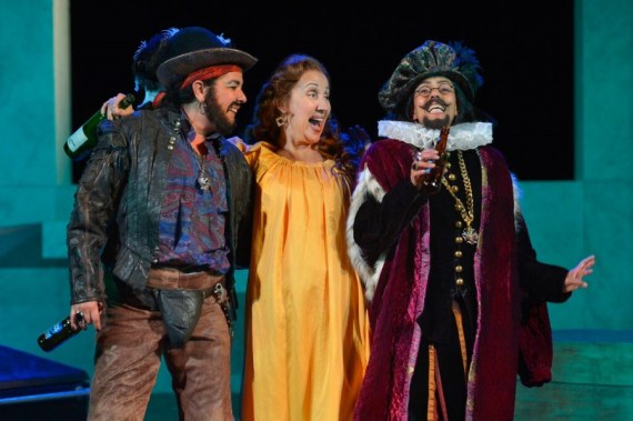 """Twelfth Night"" by William Shakespeare, at California Shakespeare Theater in Orinda, Calif., in 2015. Pictured: Catherine Castellanos, Domenique Lozano and Margo Hall. (Photo by Kevin Berne)"