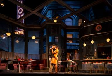 "Chester Gregory and Nambi E. Kelley in August Wilson's ""Two Trains Running"" at Goodman Theatre. (Photo by Liz Lauren)"