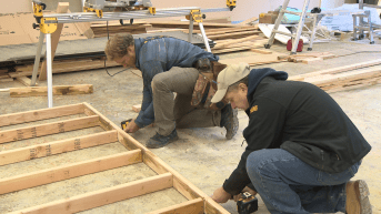 Zach and GC with Tiny House Nation - FYI Network on Everett ATH Build